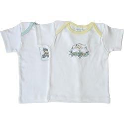 houlder Tee Born Organic, Natural, 6-9 Months (Organic Lap Shoulder Tee)