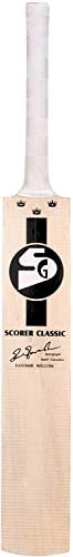 S G Kashmir Willow Leather Ball Cricket Bat, Exclusive Cricket Bat for Adult Full Size with Full Protection Co