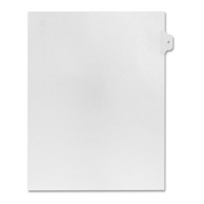 Numerical Index Dividers, Exhibit 12, Letter, 10/BX White [Set of 3]