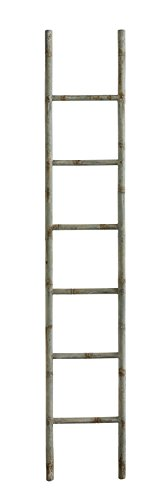 Creative Co-Op Distressed Blue Metal Decorative Ladder