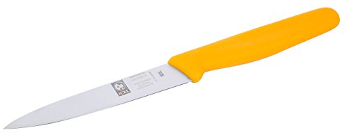 Classic 4' Boning Knife (Kitchen Tool, ICEL 4-inch Straight Paring Knife, Yellow)