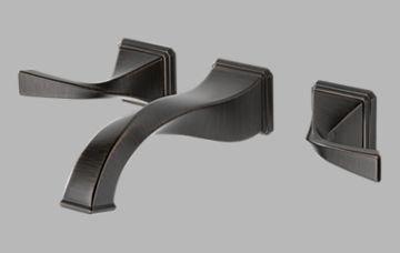 Brizo 65830LF-RB Virage Bathroom Faucet Double Handle Wall Mount with Metal Lever Handles, Venetian Bronze (0.5 Inch Adjustable Sink Strainer)