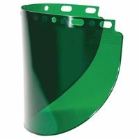 Fibre-Metal 280-4178DGNBP High Performance Wide View Faceshield Windows, Dark Green, Wide View, 16 1/2'' x 8''