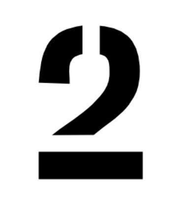 4層マットボードから24×36の大きな数字ステンシル - 数字2 B07M7FP6D1