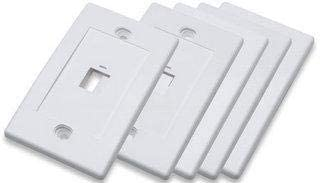 5-Pack White 771061 1-Outlet Flush-Mount Wall-Plate