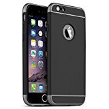 iphone 5 bumper aluminum - iPhone 5S Case, iPhone SE Case, iPhone 5 Case, SAUS 3 in 1 Ultra Thin and Slim Design Coated Premium Non Slip Surface with Excellent Grip Case Fit for Apple iPhone 5 / 5S / SE (Black)