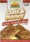 Sunbelt Oat & Honey Chewy Granola Bars, 8 oz (Pack of 3)