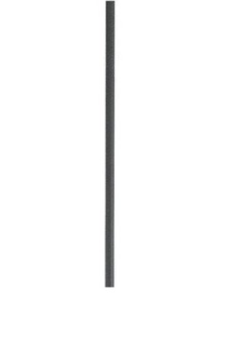 8DBK 0.5-Inch Diameter x 6-Inch Length Metal Pendant Extension Rod, Distressed Black (0.5 Inch Downrod)