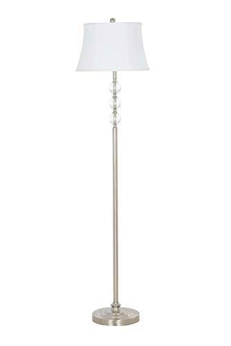 (Catalina Lighting 21898-000 Classic Crystal Stacked Ball Floor Lamp, Brushed Nickel)