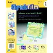 Grafix Inkjet Shrink Film - Clear44; Pack 6
