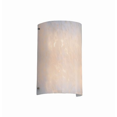 """Justice Design Group FSN-5542-DROP-CROM Fusion 8"""" Finials 2 Light Wall Sconce"""