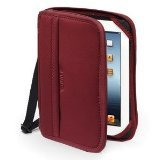 BUILT Neoprene Zip Folio Case for all iPads, Black and Bordeaux