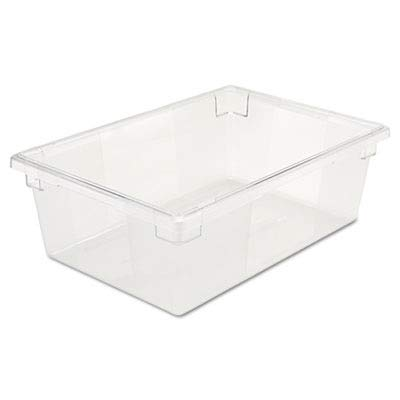 (Rubbermaid Commercial 3300CLE Food/Tote Boxes, 12 1/2 gal, 26 w x 18 d x 9 h, Clear)
