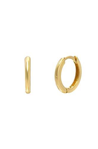 14k gold small hoops earrings, Zoe Lev -