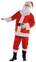 Costumes Usa Amscan Flannel Santa Suit for Adults, Christmas Costume, 3 XL, with Included -