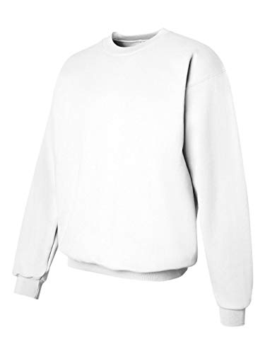 Hanes Mens Ultimate Cotton Heavyweight Crewneck Sweatshirt, White,