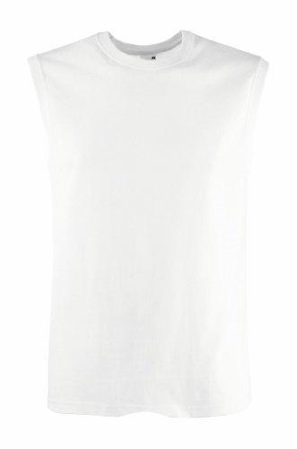 T-Shirt ohne Ärmel, Farbe:White;Größe:M M,White