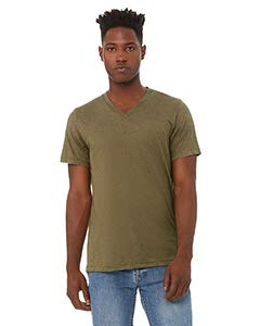 Bella + Canvas - Unisex Triblend Short Sleeve V-Neck Tee - 3415-2XL - Olive -