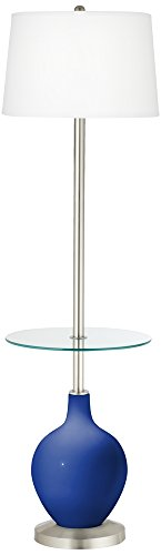 Dazzling Blue Ovo Tray Table Floor Lamp (Blue Ovo Table Lamp)