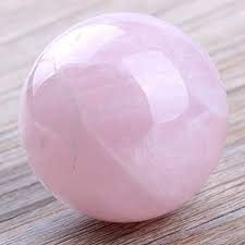 Spiritual Elementz Reiki Healing Rose Quartz Crystals Gemstone Sphere Ball (40-50mm). ()