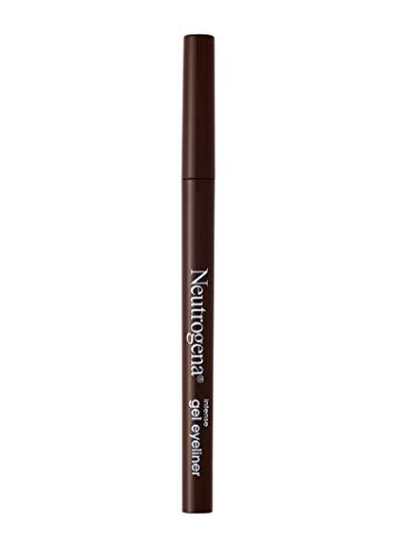 Neutrogena Intense Gel Eyeliner With Antioxidant Vitamin E, Smudge- & Water-resistant Eyeliner Makeup for Precision Application, Dark Brown, 0.004 Oz