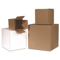 BS090908 The Packaging Wholesalers 9 x 9 x 8 200#//32 ECT 25 Bundle//500 Bale Mailing Box