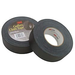 3M Cloth Gaffers Tape 6910 Black, 48 mm x 54.8 m 12.0 mil (Pack of 1) from 3M