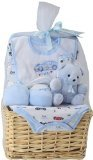 Big Oshi Baby Essentials 9-Piece Layette Basket Gift Set, Blue, 0-6 Months