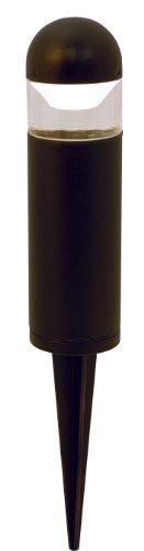 Moonrays-95555-1-watt-LED-Low-Voltage-Metal-Bollard-Landscape-Light-Fixture-Black