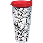 Tervis Tumbler Berry Swirl Wrap 24oz with Travel Lid