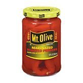 Mt. Olive Roasted Peppers, Marinated, Olive Oil & Garlic, 12 oz (Pack of - Marinated Pepper