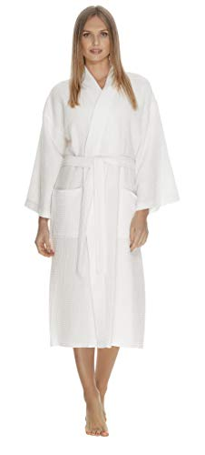 Boca Terry Women's and Men's Bathrobe, One - Room House Carlton
