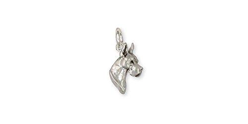 (Great Dane Jewelry Sterling Silver Great Dane Charm Handmade Dog Jewelry GD5-C)