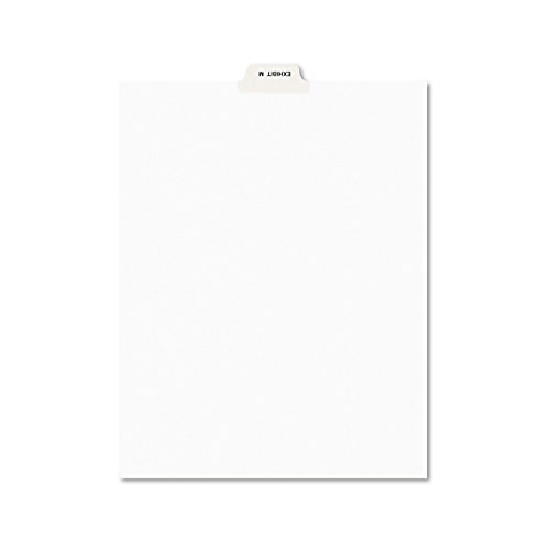 Avery 12386 Avery-Style Preprinted Legal Bottom Tab Dividers, Exhibit M, Letter (Pack of 25)