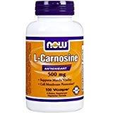 NOW Foods L-carnosine 500mg, 100 Vegetarian Capsules