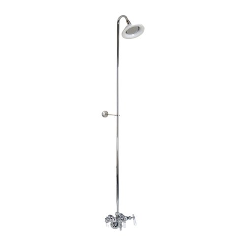 Old Style Spigot - Barclay Leg Tub Diverter Faucet for Cast Iron Tub with Old Style Spigot, Riser and Sunflower Shower Head