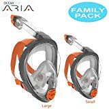 Ocean Reef Aria Full Face Snorkel Mask - FAMILY PACK (Includes Small and Large) by Ocean Reef (Image #3)