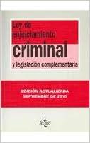 Ley de Enjuiciamiento Criminal: y legislación complementaria