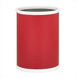 Bartenders Choice Fun Colors Oval Wastebasket in Red