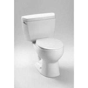 Drake Eco 1.28 GPF Round 2 Piece Toilet Toilet Finish: Ebony, Trip Lever Orientation: Left-Hand