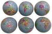 World Earth Globe Golf Balls 6 Pak