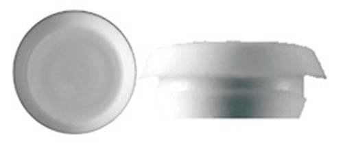 50 9/16'' White Plastic Flush Type Hole Plugs 7/8'' Head