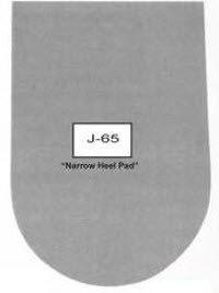 Dr. Jill's Footpads Inc J-65-1/4FELT Pad Heel With Adh Narrow Felt 1/4'' 100/Bg