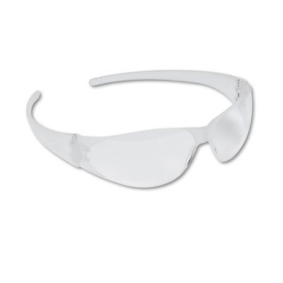 Checkmate Wraparound Safety Glasses, CLR Polycarb Frm, Uncoated CLR Lens, 12/Box, Sold as 12 - Polycarb Lenses