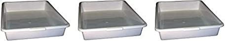 3- Pack 18 x 14 x 3 Polypropylene Autoclavable White PSC 1007176 General Purpose Tray
