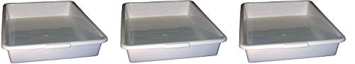 PSC 1007176 General Purpose Tray, Autoclavable, Polypropylene, 18'' x 14'' x 3'', White (3-(Pack))