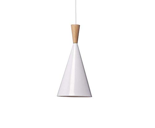 BOKT 60W Single Head Ceiling Pendant Light fixtures Minimalist White Aluminum Hanging Chandelier Lighting for Kitchen Living Room Bedroom Home Decor (Style A) (Pendant Ceiling White)