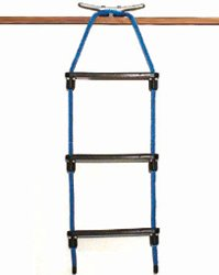 E-Z-TY 3-Step Rope Ladder - Black by E-Z-TY by E-Z - TY (Image #1)