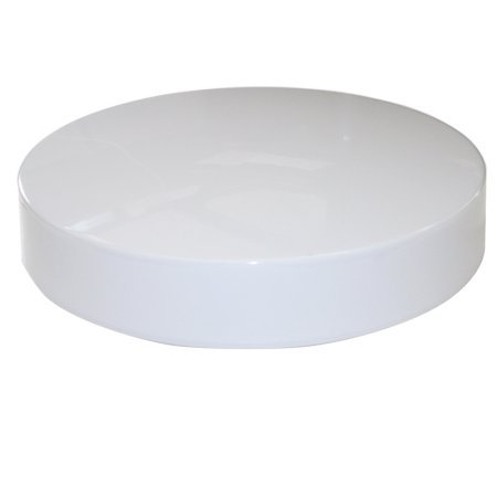 Fluorescent Drum Light Fixture - 11in White Round Acrylic Drum Style Cover / Lens for Fixture with 8in Circline bulb