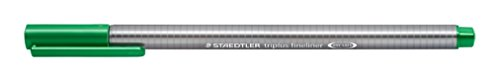 Staedtler Triplus Fineliner 334-5 Tips - Green (Pack of 10) Photo #2